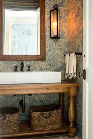 Powder Room Wall Art Traditional With Framed Oil Rubbed Bronze Sconce