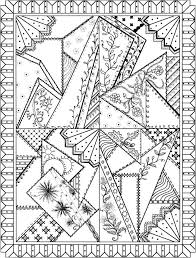 Creative Haven Patchwork Quilt Designs Coloring Book Pages