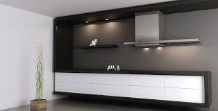 hotte de cuisine design cuisine blanche et