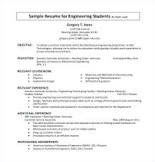 Sample Computer Science Resume Relevant Coursework On Example