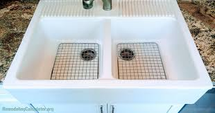 ikea domsjo sink in non ikea kitchen cabinet diy installation