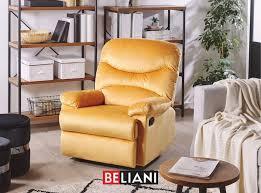 sessel samtstoff gelb verstellbar relaxliege wohnzimmer