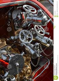 100 American Truck Equipment Fire Engine Pump On A Stock Photo Image