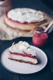himbeer curd cheesecake mit baiser backen leckeres