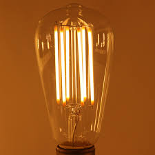 uncleahtoh 6w dimmable led filament bulb 60w equivalent 2700k warm