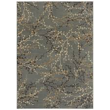 Shop Shaw Living 9 x 12 Blue Berries Area Rug at Lowes