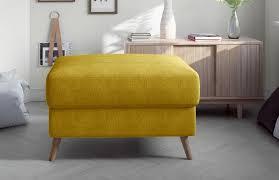 polsterhocker sitzhocker wohnzimmer hocker 75x77cm velours optik gelb