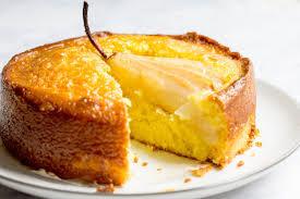 Saffron Pear Cake Mon Petit Four