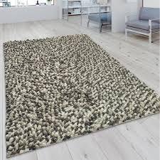 woll teppich wohnzimmer mosaik optik