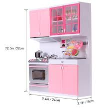 Plastic 125 Inches Voice And Light Design Kitchen Set Toy To Playing House Games For Kids Girls Pink