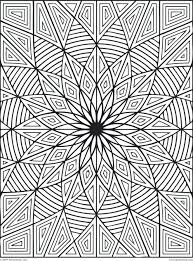 Coloring Pages Patterns Geometric Free Printable Hard Difficult Design Rectangles Page Large Size