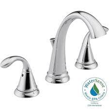 Delta Cassidy Bathroom Faucet Home Depot by Delta Zella 8 In Widespread 2 Handle Bathroom Faucet In Chrome