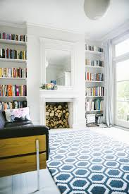 Bookshelves In Alcoves On Either Side Of Fireplace Living Room Victorian House Renovation By