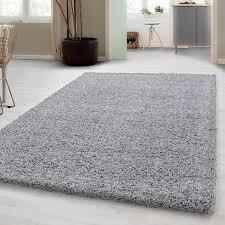 hochflor shaggy teppich in hellgrau unicolor langflor