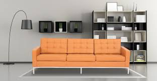 World Market Charcoal Luxe Sofa by Florence Sofa Luxe Camel Leather Kardiel