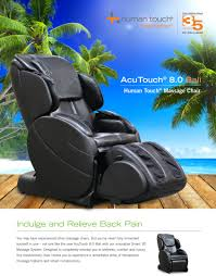 Dr Fuji Massage Chair by Human Touch Acutouch 8 0 Bali Massage Chair