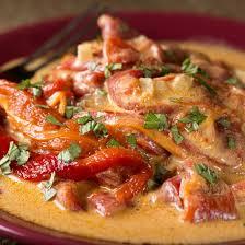 cuisiner les poivrons recette blancs de poulet sauce aux poivrons express
