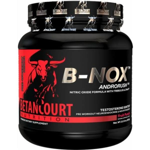 Betancourt Nutrition B-Nox Androrush Pre Workout Supplement - Blue Raspberry, 22.3oz