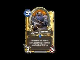 Warrior Hearthstone Deck Grim Patron by Grim Patron Hd Hearthstone Golden Card Spotlight Youtube