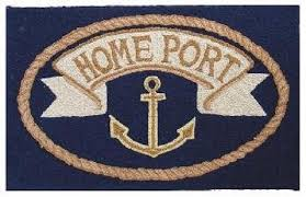 Home Port Nautical Rug Indoor Outdoor Whyrll