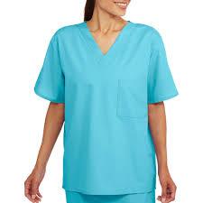 Ceil Blue Scrub Sets by Unisex Short Sleeve V Neck Scrub Top With Pocket Walmart Com