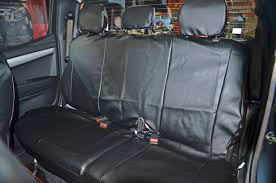 housse siege 4x4 housses simili cuir gris foncé 4 sièges avant arrière appui tête