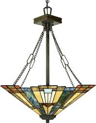 Attractive Dining Room Light Fixture Tiffany Style Stained Glass Ceiling Chandelier Mission