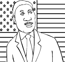 Martin Luther King Coloring Pages Printable Page