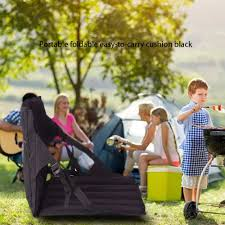 US $8.12 20% OFF|Portable Outdoor Park Folding Chair With Back Cushion Mesh  Bag Beach Moisture Folding Folding Cushion Leisure Barbecue Chair-in ...