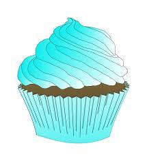 Chocolate Teal Cupcake
