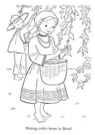 Children Of Other Lands Paper Dolls And Coloring Pages 1500 Free Arielle Gabriels