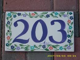 Mexican Tile House Numbers With Frame by Unique Tile House Numbers With Mexican Ceramic Tiles Numbers With