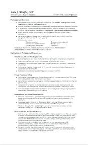 Lpn Resumes Examples Resume Sample Of Entry Level Nursing