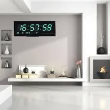 details zu wanduhren led wanduhr digital uhr mit jumbo uhrzeit datum temperatur haus büro
