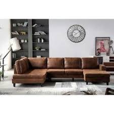 canap marron vieilli canapé d angle panoramique 8 places tissu marron vieilli vintage