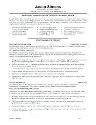 Mechanical Engineering Resume Samples Sample Engineer Examples Technician Pdf