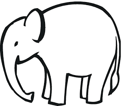 Coloring Pages Elephant Printable And Piggie Free Elephants Print Easy Page Full Size