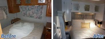 Trailer Bedroom Ideas 16 Year Old Jayco Travel Gets Interior Decor Makeover Home Design