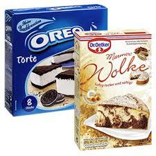 oreo torte oder dr oetker mamor wolke kuchen backmischung