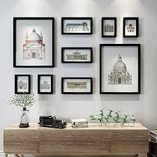 photo frame collage photo wall living room background