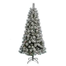 Flocked Artificial Christmas Trees Sale by Nicholas Square 7 Ft Pre Lit Flocked Artificial Christmas Tree