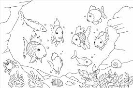 Coloring Page Free Printable Animals Pages Underwater Sea At