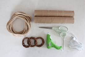 2 3 Rolls Of Cardboard Paper Towel Save Used Ones A Glue Gun Inch Twig Napkin Rings Found At Michaels And Rope Also