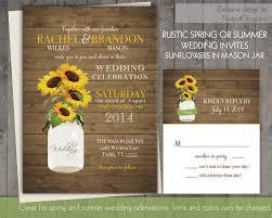 Mason Jar Sunflowers Wedding Invitations