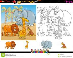 Royalty Free Stock Photo Download African Animals Coloring