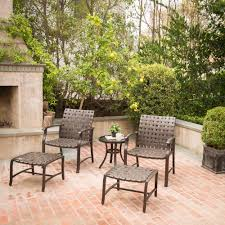 Mainstays Patio Set Red by Mainstays Willow Valley 5 Piece Chat Set Walmart Com