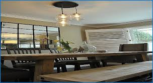 Room Luxury Ceiling Fans Over Dining Table