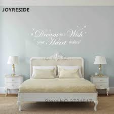 joyreside zitate wand aufkleber traum ist eine wsih worte aufkleber hause kid schlafzimmer wand dekor vinyl dekoration schlafzimmer traum herz wm081