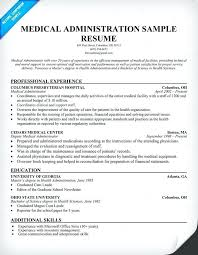 How To Write A Medical Resume Administration Sample Hospital Administrative Assistant