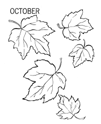 Fall Leaves Coloring Pages Picture